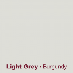Light grey engraved burgundy