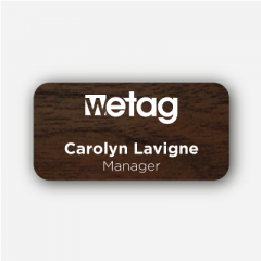 Illustration :  Name tag - plastic engraved - inspiration 106