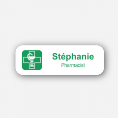 Illustration : Name Tag - Metal Printed - Order Of Pharmacists - Inspiration 167
