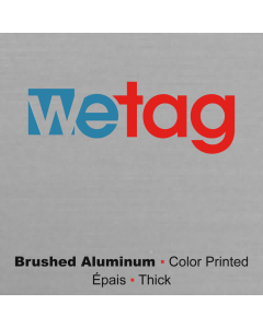 metal printed brushed aluminum Wetag