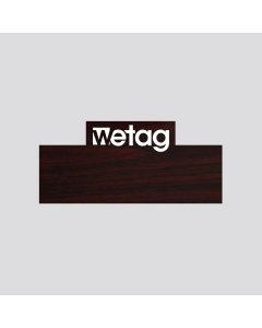 wetag magnetic name badge wood cherry engraved white special shape corner same content