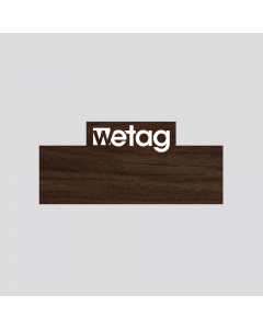 wetag magnetic name badge wood walnut engraved white special shape corner same content